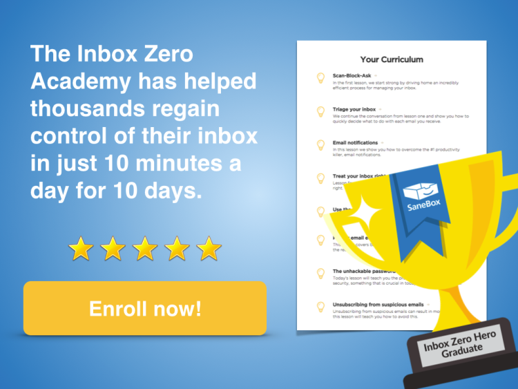 Enroll in the Inbox Zero Academy