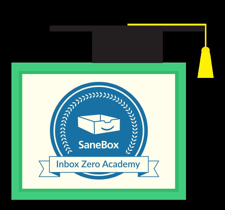 SaneBox Inbox Zero Academy Diploma Seal