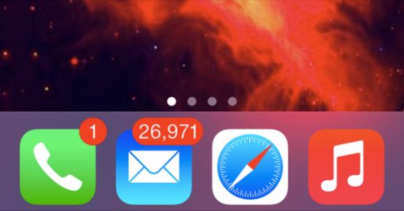 Email Overload: Badge App Icon iOS Mail App Inbox